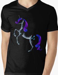 MLP Rarity Minimal Abstract Drawing Mens V-Neck T-Shirt