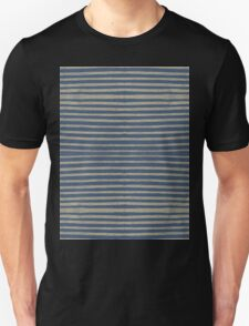 navy gold stripes Unisex T-Shirt