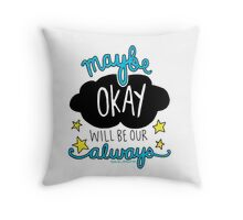 The Fault In Our Stars quote drawing Throw Pillow