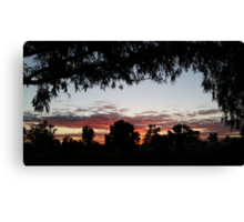 Sun up in the west Canvas Print