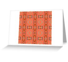 rectangles and diamonds on orange Greeting Card