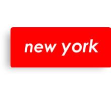 New York - Red Canvas Print