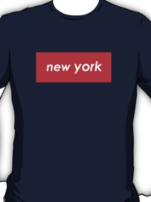 New York - Red T-Shirt