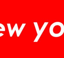 New York - Red Sticker