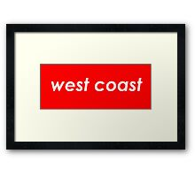 West coast - Red Framed Print