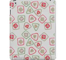 green, red, and gold squares and triangles iPad Case/Skin