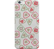 green, red, and gold squares and triangles iPhone Case/Skin