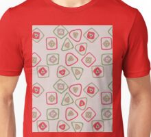 green, red, and gold squares and triangles Unisex T-Shirt