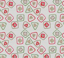 green, red, and gold squares and triangles by purplestgirl