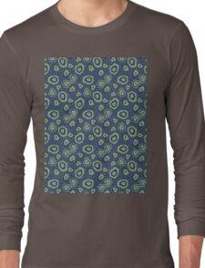metallic blue green agate Long Sleeve T-Shirt