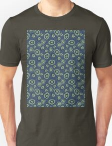 metallic blue green agate Unisex T-Shirt