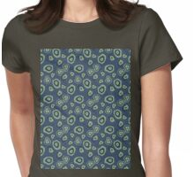 metallic blue green agate Womens Fitted T-Shirt