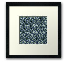 metallic blue green agate Framed Print