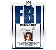 Dana Scully ID Badge  Poster