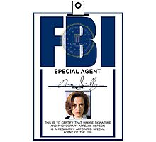 Dana Scully ID Badge  Photographic Print