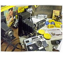 Vintage KODAK Camera collection Poster
