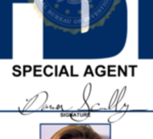 Dana Scully ID Badge  Sticker