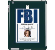 Dana Scully ID Badge  iPad Case/Skin