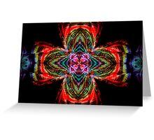 Kaleidoscope Cross Greeting Card