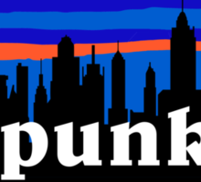 Punk, NYC skyline silhouette Sticker