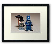 Batman scuba and The penguin Framed Print
