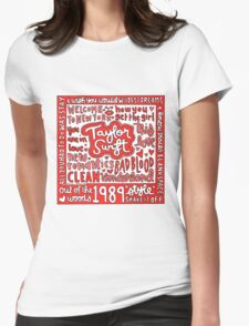Taylor Swift 1989 collage drawing Womens Fitted T-Shirt
