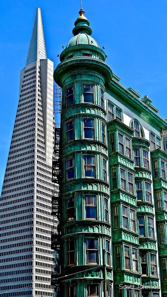 San Francisco Architectural Contrast by Scott Johnson