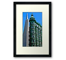 San Francisco Architectural Contrast Framed Print