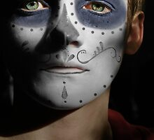 Jack Gleeson Day of the Dead, Dia de los Muertos, Makeup by HilaryHeffron