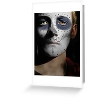 Jack Gleeson Day of the Dead, Dia de los Muertos, Makeup Greeting Card