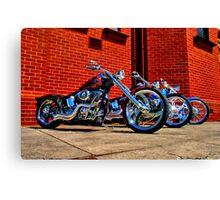 """""""Harleys at Heaven's Door"""" Canvas Print"""