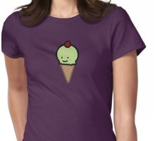 Pistachio ice cream Womens Fitted T-Shirt