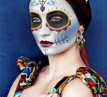 Sophie Turner Day of the Dead, Dia de los Muertos, Makeup by HilaryHeffron