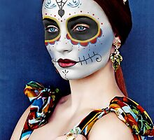 Sophie Turner Day of the Dead, Dia de los Muertos, Makeup by HilaryHeffron