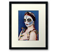 Sophie Turner Day of the Dead, Dia de los Muertos, Makeup Framed Print