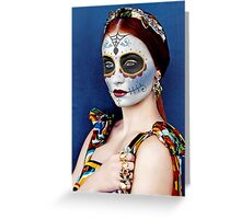 Sophie Turner Day of the Dead, Dia de los Muertos, Makeup Greeting Card