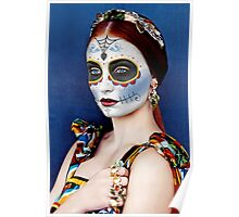 Sophie Turner Day of the Dead, Dia de los Muertos, Makeup Poster