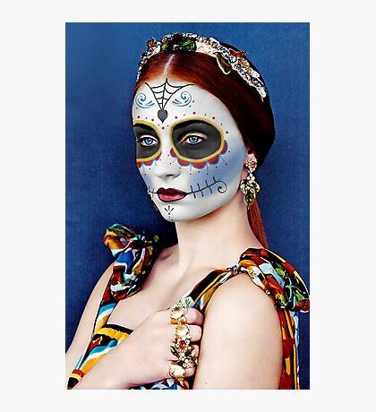 Sophie Turner Day of the Dead, Dia de los Muertos, Makeup Photographic Print