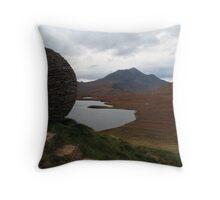 Knockan Crag Throw Pillow