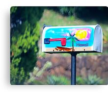 Cool Mailbox in the woods Canvas Print