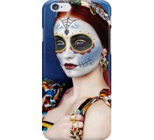 Sophie Turner Day of the Dead, Dia de los Muertos, Makeup iPhone Case/Skin