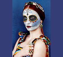 Sophie Turner Day of the Dead, Dia de los Muertos, Makeup Unisex T-Shirt