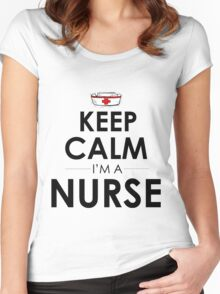 KEEP CALM I'M A NURSE Women's Fitted Scoop T-Shirt