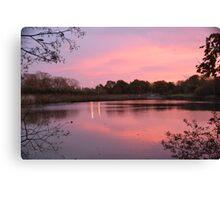 Sunrise at Mill Pond, Bracknell Canvas Print