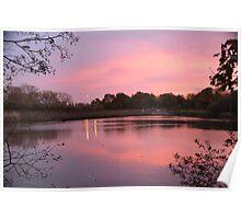Sunrise at Mill Pond, Bracknell Poster