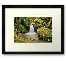 Saparelle waterfall - Corsica Framed Print