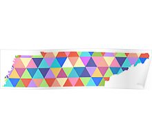 Tennessee Colorful Triangles Hipster Geometric Nashville  Poster