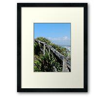Walking Track Fence Byron Bay N.S.W  Australia Framed Print