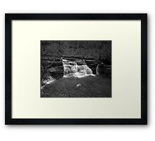 Campbells Falls (Monochrome) Framed Print