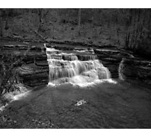 Campbells Falls (Monochrome) Photographic Print